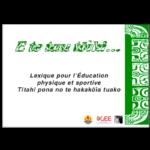 Lexique EPS marquisien